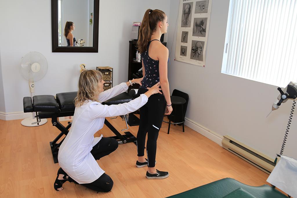 vérification de l'équilibre des hanches