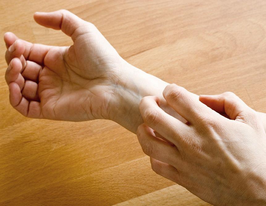 poignet avec arthrose